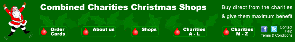 Voluntary on-line charity Christmas card shop; buy direct and 100% of purchase price goes to charity of your choice; about 55 charities.